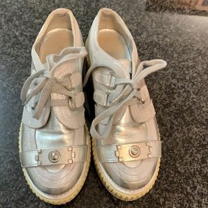 Very rare Chanel silver shoes